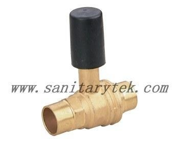 Cheap Code: V18-3202 Brass built-in ball valve with weld connection for sale