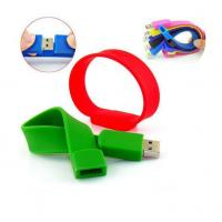 Buy cheap silicone bracelet usb flash drive, custom silicone usb brace from wholesalers