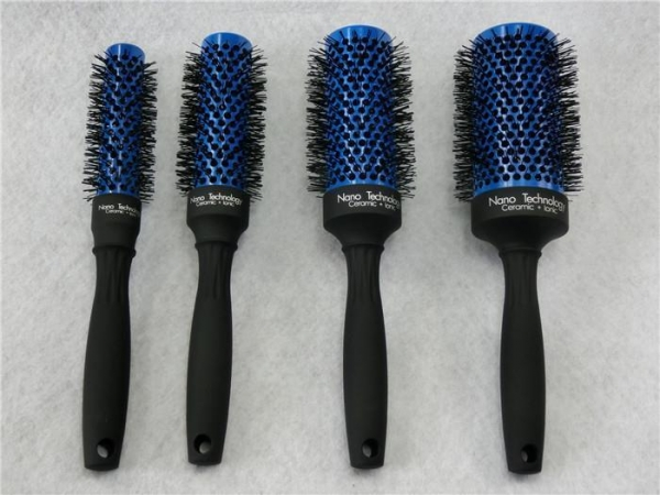 Cheap All Changle Color Ceramic Round Brush Curling Hair Straightening for sale