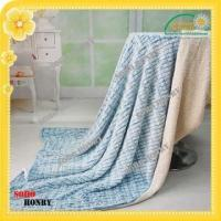 China TEXTILES Double Sided Brushed PV Plush &Sherpa Blanket on sale