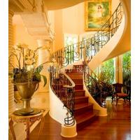 Custom class forged iron products Villa staircase handrail