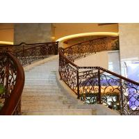 Quality Custom class forged iron products Hotel staircase handrail wholesale