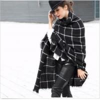 Buy cheap Women Winter Soft Plaid Knit Artificial Wool Scarf Long Scarves Wrap Shawl Warm from wholesalers