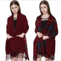 Quality 2017 Unique Double-Sided Winter Warm Scarf Shawl Women Lady Scarf with Pocket wholesale