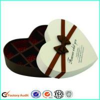 Quality Heart Shaped White Printed Gift Box With Ribbon wholesale
