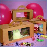 Quality Good Quality Kraft Paper Cupcake Box With Handle wholesale