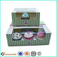 Quality Custom Cheap Cupcake Boxes Window Pacakging wholesale