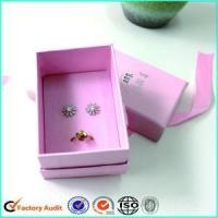 Cheap Luxury Pink Ring Jewelry Box for sale