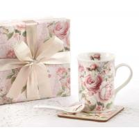 Quality Clearance Rose Mug Spoon Coaster Gift Boxed Set wholesale