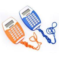 Quality Calculator 8-digit Dual Power Pocket Calculator with Rope wholesale