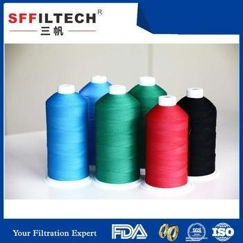 China wholesale professional best ptfe polyester sewing thread for filter bag