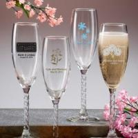 Personalized Champagne Wedding Favors