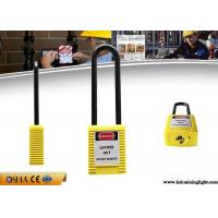 Quality Yellow Colour English PVC Tag Safety Lockout Padlocks 76mm Sahckle Length wholesale