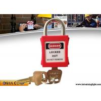 Quality 25mm Hardened Short Steel Shackle Colourful Safety Lockout Padlocks wholesale