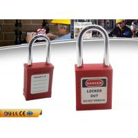 Quality ZC-G01 Red Short Shackle Safety Lockout Padlock , ABS Body Steel Shackle wholesale