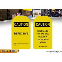 Quality Industrial Safety Lock Out Tags With Padlocks Custom Language PVC Material wholesale