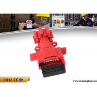 Durable Valve Lockout Tagout , Red Universal Gas Valve Lockout Device