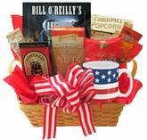 Quality All American Gift Basket with Book and Snacks wholesale