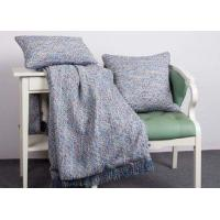 China Elegant Decorative Pillow Covers , 100% Polyester Blue Throw Pillows For Couch on sale