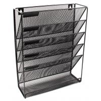 Quality EasyPAG Mesh Wall Mounted File Holder Organizer Literature Rack 5 Compartments wholesale