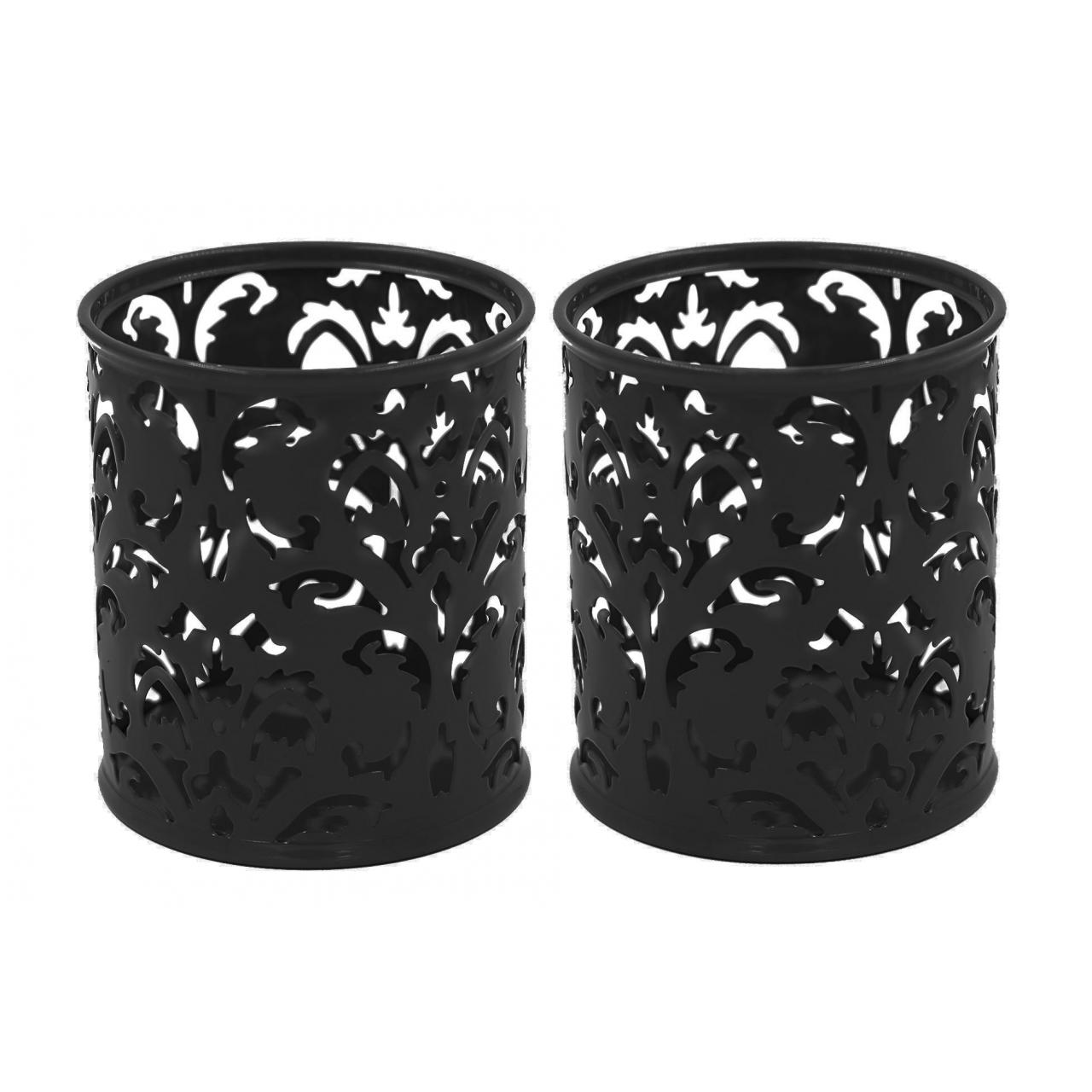Buy cheap EasyPAG 2 Pcs 3-1/4 inch Dia x 3-3/4 inch High Round Floral Pencil Holder from wholesalers