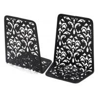 Buy cheap EasyPAG 6.5 Inch Desktop Bookends Carved Hollow Flower Pattern Design from wholesalers
