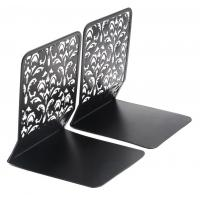 Buy cheap EasyPAG Desktop Bookends Carved Hollow Flower Pattern Design 6.5 Inch Book Stand from wholesalers