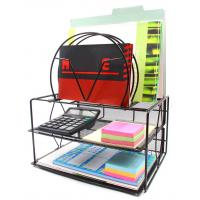 Quality EasyPAG Mesh Desk Organizer with Double Tray and 5 Upright Sections wholesale
