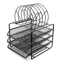 Quality EasyPAG Stackable 3 Tier Desk Organizer Tray with 5 Sorters wholesale