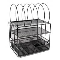 Quality EasyPAG Mesh 3 Tier Desk Organizer Tray with 5 File Letter Sorter and Drawer wholesale