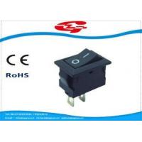 Quality Mini 2 Pin On Off Electrical Rocker Switches 3A / 6A PA66 Material With 14*9mm Size wholesale