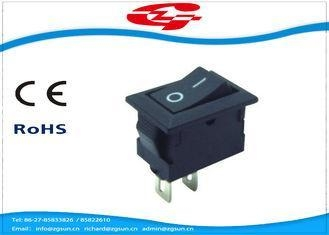 China Mini 2 Pin On Off Electrical Rocker Switches 3A / 6A PA66 Material With 14*9mm Size