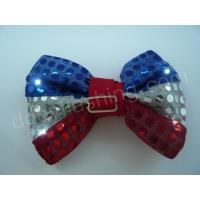 Quality LED flashing sequin bow tie-13002 wholesale