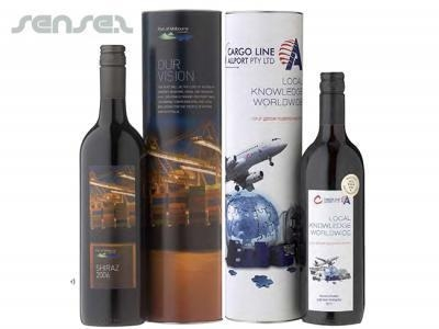 Cheap Promotional Custom Printed Wine & Cylinder Gift Sets for sale