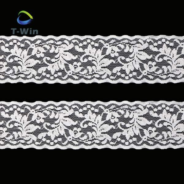 Cheap 2017 Eco-friendly knitted chemical embroidery lace fabric for sale