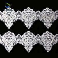 Quality embroidery pearl beaded lace trim wholesale