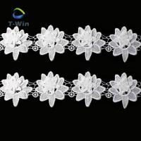 Buy cheap 3d lace flower white color lace trims polyester for garment from wholesalers