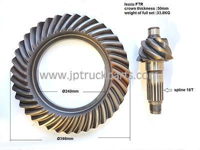 China FTR CXZ truck bevel gear crown wheel and pinion ratio 7*39