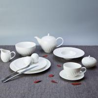 China Fashion Style Round White Embossed Porcelain Dinner Set for Home - TW06 on sale
