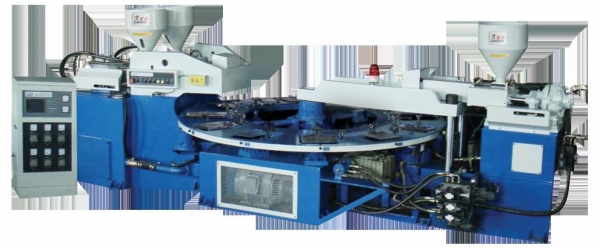 China Full automatic Three-color strap injection moulding machine