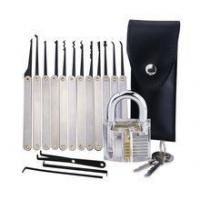 China Credit card 5 Pieces Practice Lock Pick Set With Transparent Practice Padlock For Padlock on sale