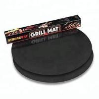 Quality Factory price SGS approved nostick Eco friendly custom Round Grill BBQ mat for grill wholesale