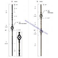 China twist and basket iron baluster on sale