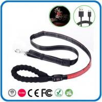 China USB Rechargeable LED Dog Leash Led Glowing Lighted Dog Collar And Leash Set on sale