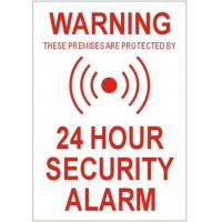 Quality Security Alarm Warning Sticker for Security Alarm 5 Pcs wholesale