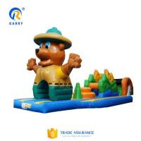 Quality Bespoke bear obstacle courses water pool inflatable floating water park adventure games wholesale