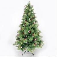 China 7ft Pine Artificial Christmas Tree With Cones and Red Berries on sale