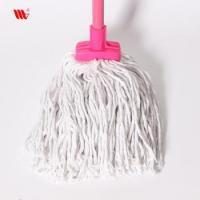 Wholesale 2063-SST square head Cleaning pure cotton thread Mop with steel stick