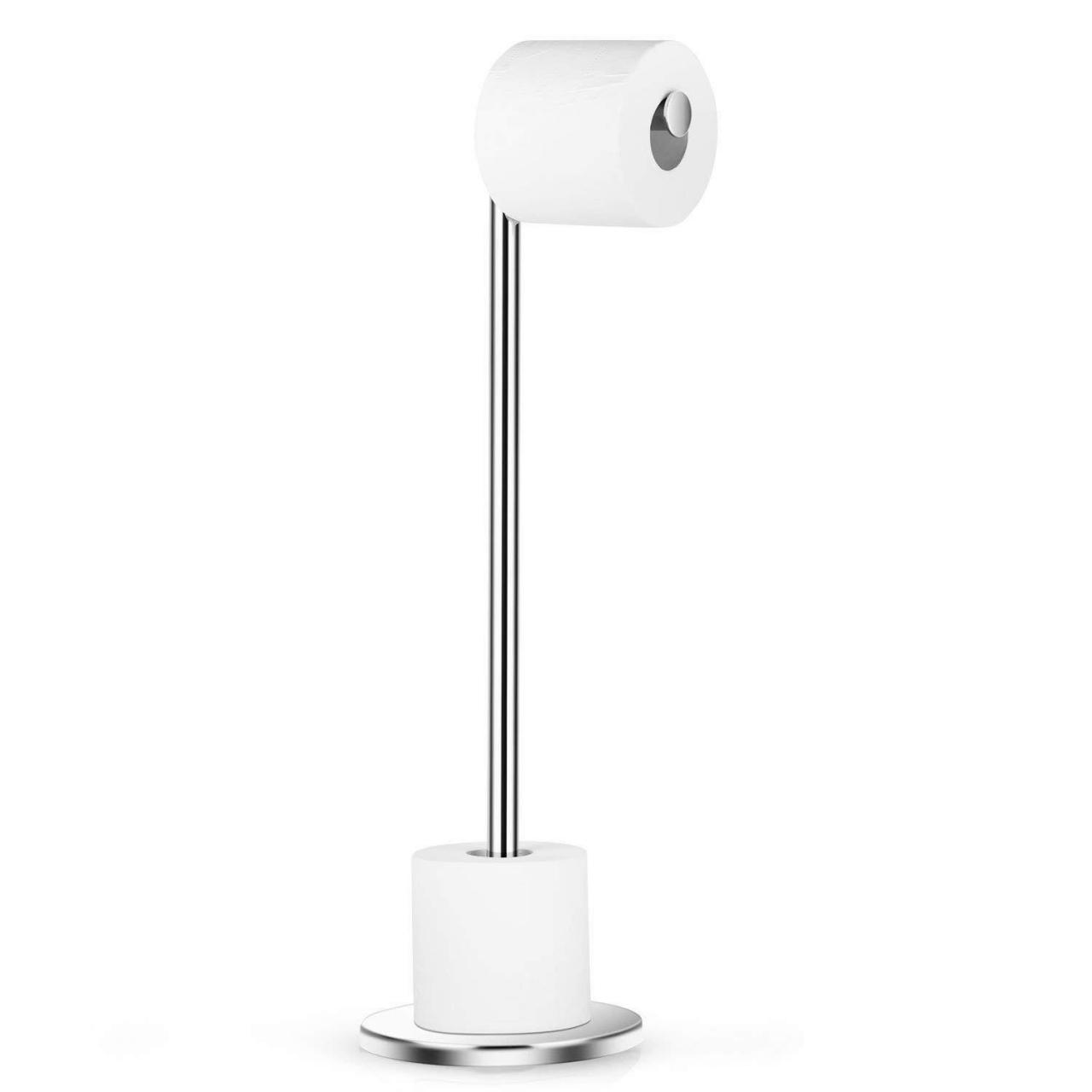 Quality Dailyart Stainless Steel Toilet Paper Holder Free Standing with Reserve Tissu06 wholesale