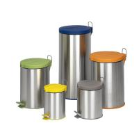 Buy cheap Dailyart Stainless Steel round trash Can with Lid removable inner bucket V011040 from wholesalers